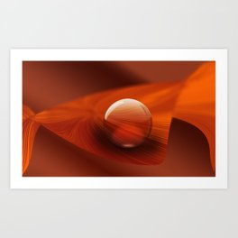 Orange Ball Art Print