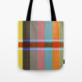 Dots With Stripes Tote Bag
