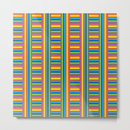 Colorama Pattern Metal Print