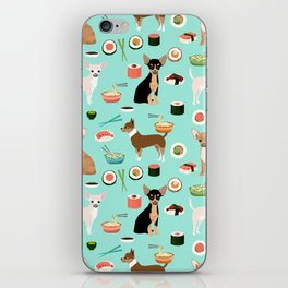 chihuahua sushi dog lover pet gifts cute pure breed chihuahuas multi coat colors iPhone Skin
