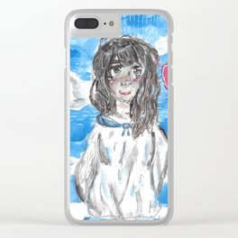 Cloudy day Clear iPhone Case