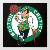 nba Canvas Prints featuring NBA - Celtics by Katieb1013