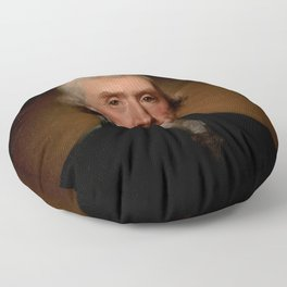 Official Presidential portrait of Thomas Jefferson Floor Pillow