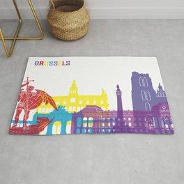 Brussels skyline pop Rug