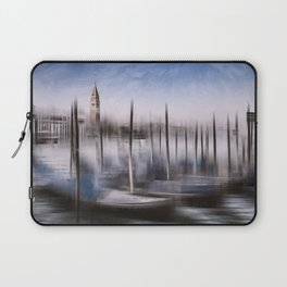 Digital-Art VENICE Grand Canal and St Mark's Campanile Laptop Sleeve