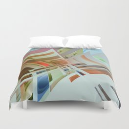 Abstract Composition 574 Duvet Cover