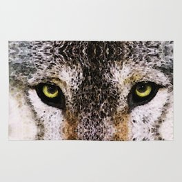 Wolf Eyes - Animal Art By Sharon Cummings Rug