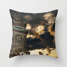 Custom House Clock Tower, Boston MA Throw Pillow