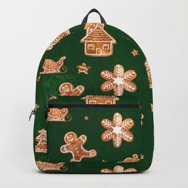 Gingerbread Cookies in green Backpack