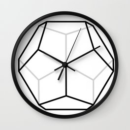 D12, White Wall Clock