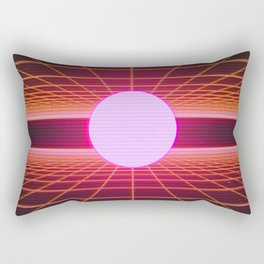 Retro 80s Grid 'Into the Void' Rectangular Pillow