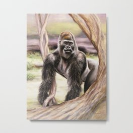 Gorrilla: The Protector Metal Print