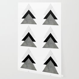 Arrows Monochrome Collage Wallpaper