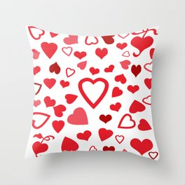 Hearts a'Plenty Throw Pillow