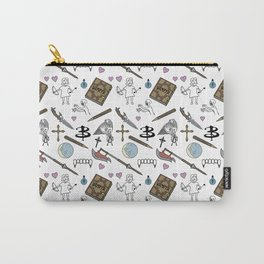 Buffy Doodles- white Carry-All Pouch