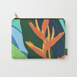 Quiet in Paradise - Tropical Bird of Paradise Illustration Carry-All Pouch