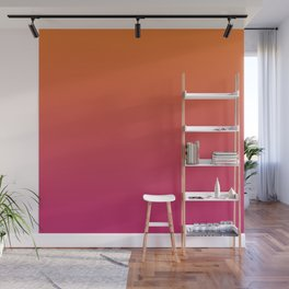 Pink Orange Red Gradient Pattern Wall Mural