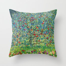 "Gustav Klimt ""Apple tree"" Throw Pillow"