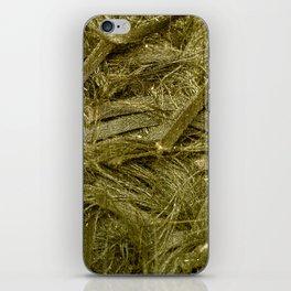 Golden fibers iPhone Skin