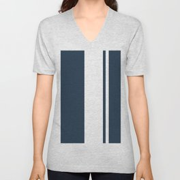 Classic Trendy Stripes Daitengu Unisex V-Neck