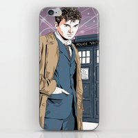 david tennant iPhone & iPod Skins featuring Doctor Who - David Tennant by Averagejoeart