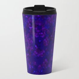 Shiny blue confetti Travel Mug