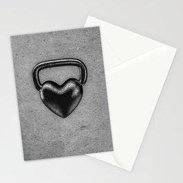 Kettlebell heart / 3D render of heavy heart shaped kettlebell Stationery Cards