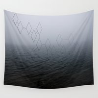 lake Wall Tapestries featuring ◄ LAKE ► by B.▲M.