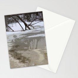 Broken Branch in Ice Stationery Cards