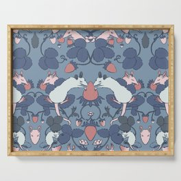 Strawberry Rat Thieves (soft blue) Serving Tray