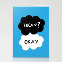 tfios Stationery Cards featuring TFIOS - Okay by //SOLIDS//