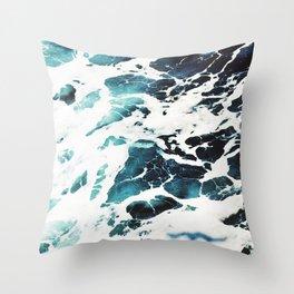 Ecume d'océan Throw Pillow