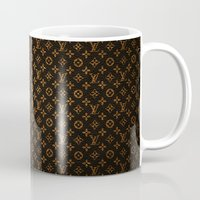 lv Mugs featuring LV Pattern by Veylow