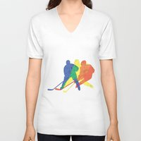 hockey V-neck T-shirts featuring Hockey by preview