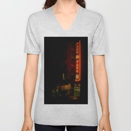 Late Night Park - New York City Unisex V-Neck