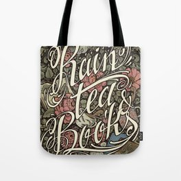 Rain, Tea & Books - Color version Tote Bag