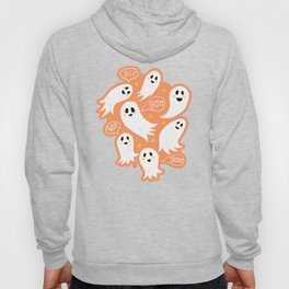 Friendly Ghosts on Orange Hoody