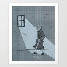 The Belgian Journalist. Art Print