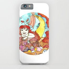 Mermaid Marina - Circle  iPhone Case