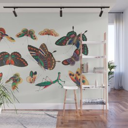 Chinese butterfly and insect painting from the Qing Dynasty Wall Mural