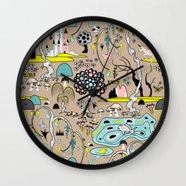 Magical Garden (Beige) Wall Clock