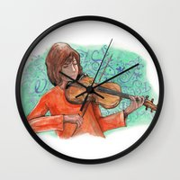 violin Wall Clocks featuring Violin by besign79