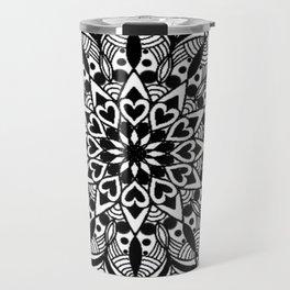 Black Mandala Travel Mug