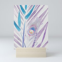 Pastel Peacock Mini Art Print