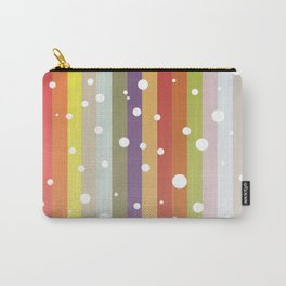 Snow falls on the rainbow Carry-All Pouch