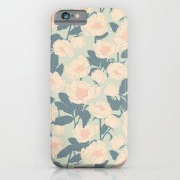 Vintage Garden Peony  iPhone Case