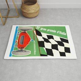 1961 Italian Grand Prix Advertising Poster Rug