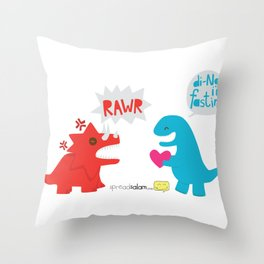 Di-NO, I'm Fasting (Don't Be Angry) Throw Pillow