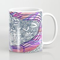 lucy Mugs featuring Lucy by KD Ives