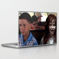 three of the possessed Laptop & iPad Skins featuring POSSESSED REGAN IN FORREST GUMP by Luigi Tarini